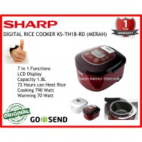 Rice Cooker Sharp KS-TH18-RD Merah  1.8 Lt 790 Watt