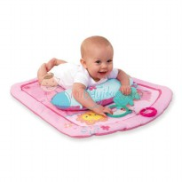 Bright Starts Pretty in Pink Little Blossoms Prop & Play Mat Set Color Pink For Girls Age 0M+