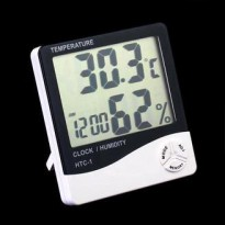 Htc-1 Digital Hygrometer & Temperature Humidity Meter Lcd Clock