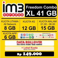 Promo Freedom Combo XL Paket Data Internet Indosat