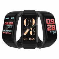 SmartBand F1 Plus Color Hitam - Smartwatch