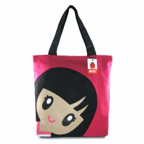 Japan Girl Totebag - Red/Pink