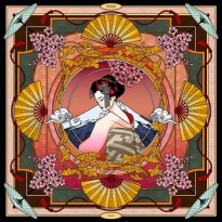 SK-II Scarf design by Sebastian Gunawan / SKII SK2 Shawl Syal  / Japanese Geisha / Product of Japan