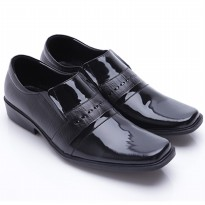 Dr.Kevin Men Formal Shoes Genuine Leather 13225 Black