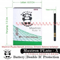 Baterai Maxtron Pluto X Double IC Protection