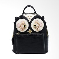 Cocolyn Owl Backpack - Black