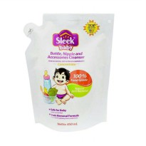 Sleek Baby Bottle, Nipple And Accesories Cleanser - 450ml Pouch