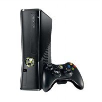 Microsoft Xbox 360 Black Game Console [4 GB] + 120 GB HDD INT