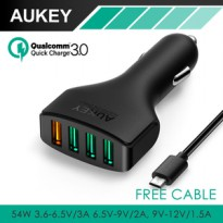 Aukey Fast Quick Charger Car Charger 4 USB Port Quick Cahrge 3.0 CC-T9