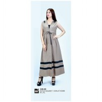 Long dress/atasan wanitaAzzura 340-48 COKLAT