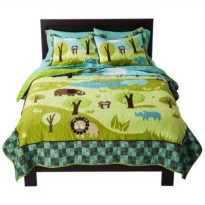 [poledit] Circo Wild Safari Collection Child`s Full - Queen Quilt Comforter Bedspread and /13451888