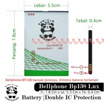 Baterai Bellphone BP138 Lux Double IC Protection