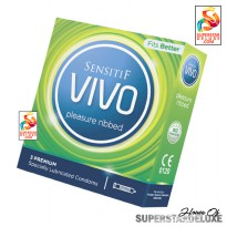 Sensitif VIVO Pleasure Ribbed (kondom tekstur ulir)