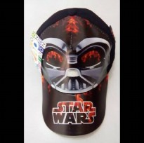 Topi Karakter + Pin : Starwars Darth Vader Black