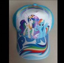 Topi Karakter + Pin : My Little Pony Light Blue