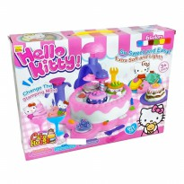Mainan Anak Hello Kitty Cake House Dough Play Set