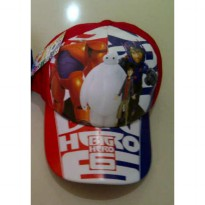 Topi Karakter + Pin : Big Hero 6 Red