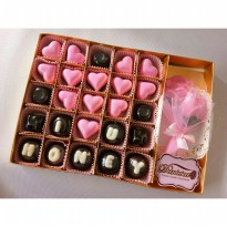 Chocolate Gift - S35B Coklat Ucapan I Love U Honey Dan Mini Buket
