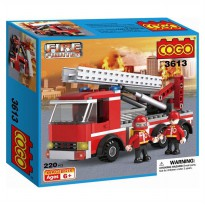 Lego Cogo Block Fire Fighter 3613 Isi 220pcs - Mainan edukasi block anak - Ages6+