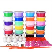 [globalbuy] 24 Colors Play Doh Intelligent plasticine Kids toys DIY Polymer Magnetic clay /4461722