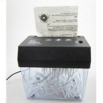 Mini USB Paper Shredder / Penghancur Kertas with Letter Opener - Black