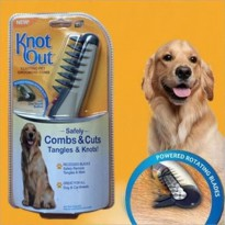 Knot Out Pet Grooming Sisir Pet Elektrik