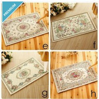 Flowery Turkey Mat Square - 40*60 / Karpet Turki Segi
