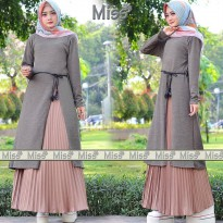 Dress Muslimah Miss set grey MC 32