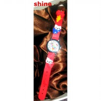JAM TANGAN ANAK/HELLO KITTY/MERAH/UNGGU/STAINLESS STEEL/S-021