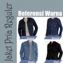 AN Jaket Jeans Pria Hight Quality [Blue/biowosh]