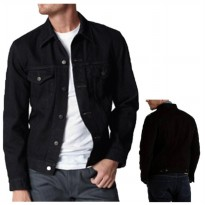 AN Jaket Jeans / Denim Pria Hight Quality [Black]