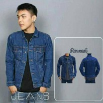 AN Jaket Jeans / Denim Pria Hight Quality [Blue/biowosh]