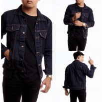 AN Jaket Jeans / Denim Pria Hight Quality [Blue Black/Garment]