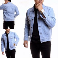 Jaket Jeans Pria Hight Quality [Light blue/bioblits]