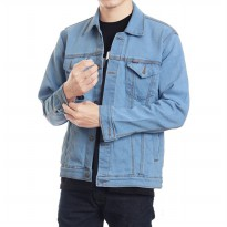 Jaket Jeans / Denim Pria Hight Quality [Light blue/bioblits]