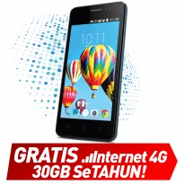Smartfren Andromax B - 1/8GB - Hitam Free Quota 10GB