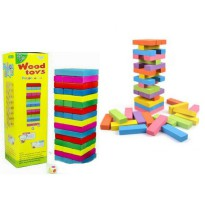 TME Wooden Toy Stacko Jumbo Color