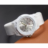 Jam Tangan Pria Swiss Army Men Watches Braided Strap Full White