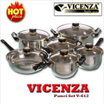 [PROMO VICENZA] Vicenza Panci Set V-612 / Vicenza Stainless Cookware V612