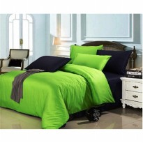 Jaxine Bed cover Set Katun Prada Ukuran 120 x 200 Single Warna Hijau