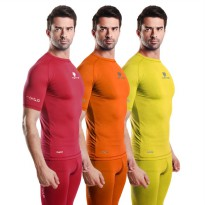 Tiento Baju Olahraga Baselayer Manset Tight Compression Unisex Short Sleeve Original