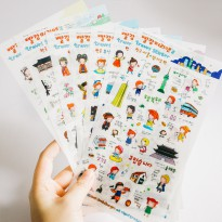 Cute Anne Travel Diary Deco Stickers
