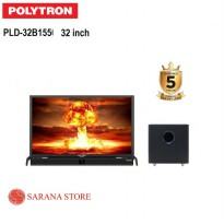 JABODETABEK ! POLYTRON TV LED 32 INCH TYPE 32B1550 + SOUNDBAR