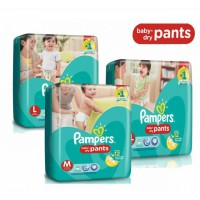 PAMPERS BABY DRY PANTS M30 / L26 / XL22
