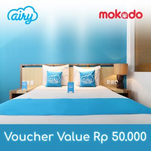 Airy Rooms Voucher Value Rp 50.000 - Voucher Menginap di Airy Rooms seluruh Indonesia