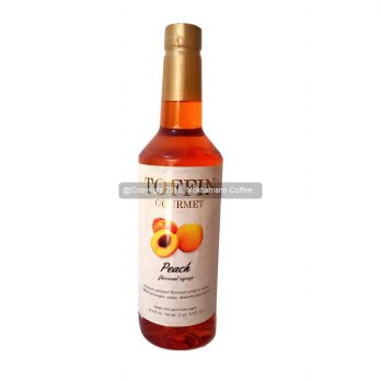 Toffin Syrup Peach 750 mL Cafe Coffee Original Syrup
