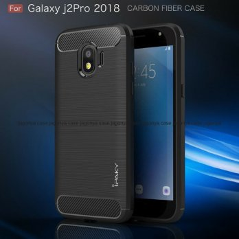 Samsung J2 Pro 2018 Case Ipaky Carbon Soft Series
