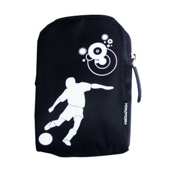 Mediatech 43003 MCB-02 Small Camera Bag Motif hitamfootball / Tas kamera - Hitam