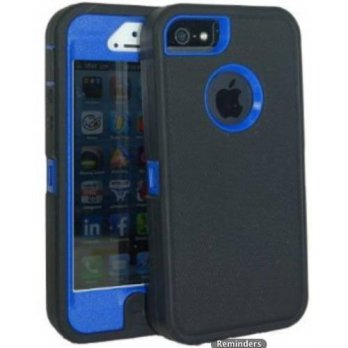 [holiczone] Lucky 3308685 Body Armor Defender for Iphone 5 and 5S - Black on Blue/163420