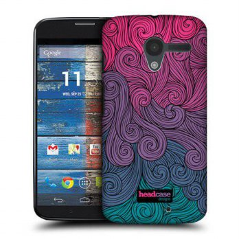 [holiczone] Head Case Designs Hot Pink to Teal Vivid Swirls Protective Snap-on Hard Back C/89369